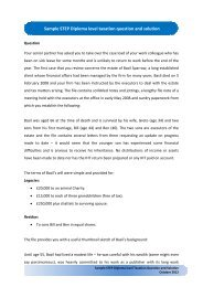 Sample STEP Diploma level taxation question and ... - Step Home