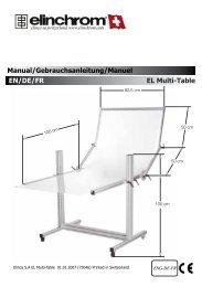 Mode d'emploi table Elinchrom - Kelvin-pro
