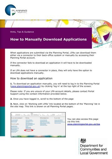 How to access and download online applications - Planning Portal
