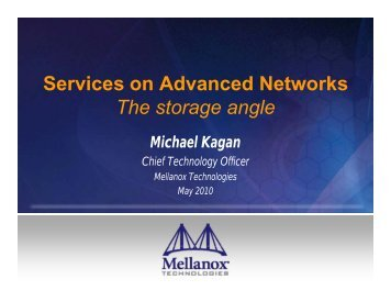 Advanced Network Storage Services - WorkShop