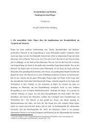 Kreatürlichkeit und Medizin Nachfrage bei Josef Pieper Vortrag von ...