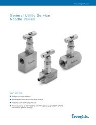 General Utility Service, Needle Valves, GU Series, (MS ... - Eoss.com