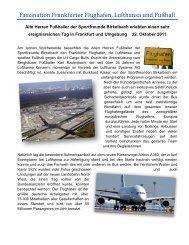 Faszination Frankfurter Flughafen, Lufthansa und ... - SF Birkelbach