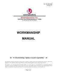 Workmanship Manual 6310034 - L-3 Communications