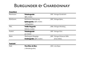 Burgunder & Chardonnay