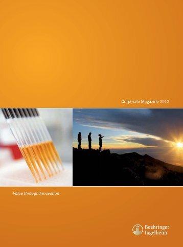 Corporate Magazine 2012 - Boehringer Ingelheim