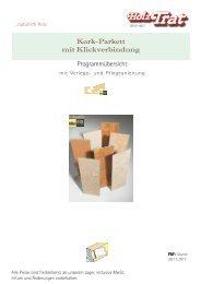 Kork-Parkett - Holz-TRAT Ideen in Holz