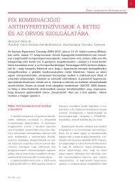 fix kombinációjú antihypertenzívumok a beteg és az ... - arteriograf.hu