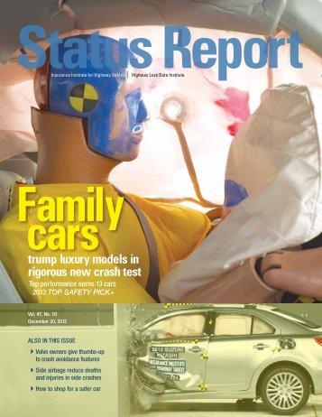 IIHS Status Report newsletter, Vol. 47, No. 10, December 20, 2012
