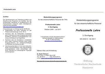Professionelle Lehre - Tierärztliche Hochschule Hannover