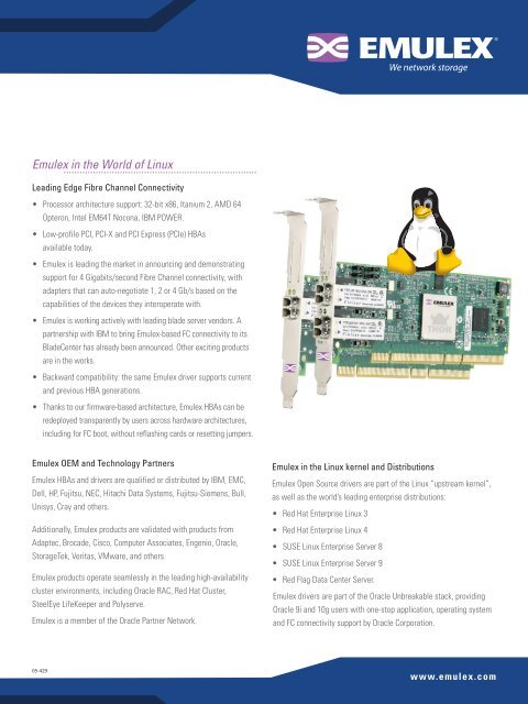 Emulex in the World of Linux