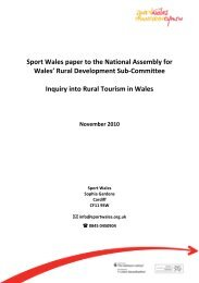 Paper 4 : Inquiry into Rural Tourism - National Assembly for Wales
