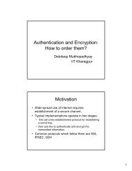 Authentication and Encryption: How to order them? Motivation
