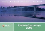 Tikkurila Oy - Ympäristöselonteko 2003
