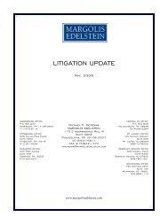 2009 Litigation Update - Margolis Edelstein