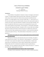 Science of Nuclear Energy and Radiation Introduction to Nuclear ...