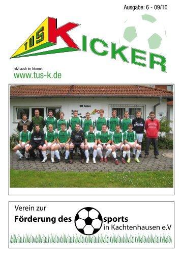 TuS Kicker Mai 2010 - TuS Kachtenhausen Kicker