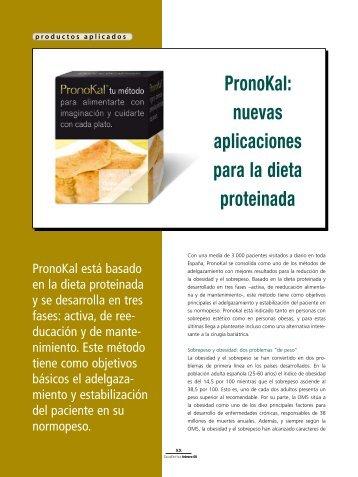 PronoKal: nuevas aplicaciones para la dieta proteinada