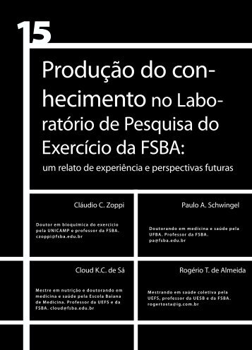 Produção do con- hecimentono Labo- - Faculdade Social