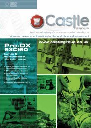 Pro-DX Excieo Vibration Meters - Castle Group Ltd