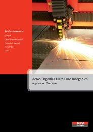 Acros Organics Ultra Pure Inorganics
