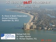 35 YEARS OF BEACH MANAGEMENT ON MARCO ISLAND - fsbpa