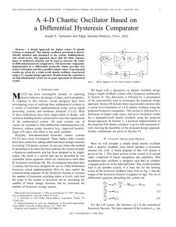 A 4-D Chaotic Oscillator Based On A Differential ... - IEEE Xplore