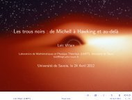 Les trous noirs : de Michell à Hawking et au-delà - LMPT