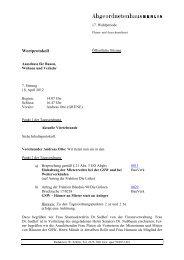 Wortprotokoll der Bauausschusssitzung vom 18. April 2012 - GSW23