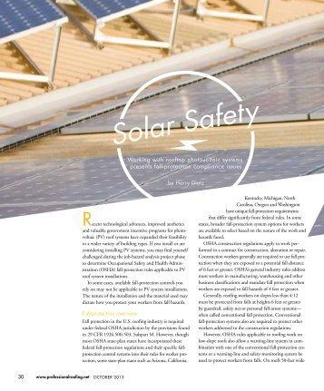 Solar Safety