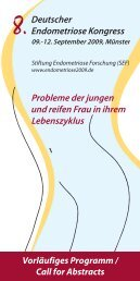 Vorläufiges Programm / Call for Abstracts - Europäische ...