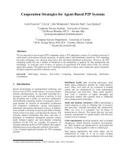 Cooperation Strategies for Agent-Based P2P Systems