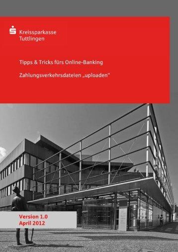 DTA-Dateien versenden - Kreissparkasse Tuttlingen