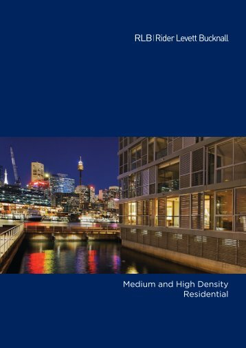 Medium and High Density Residential - Rider Levett Bucknall