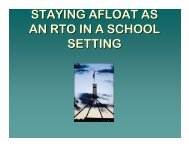 Peter Langford - Staying afloat as an RTO in a school environment