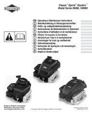 Classic /Sprint /Quattro Model Series 90000, 100000 - Index of