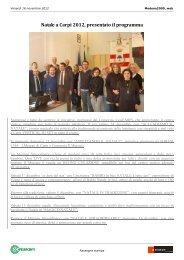 Natale a Carpi 2012, presentato il programma - Confesercenti Modena