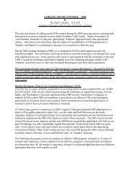 CODLING MOTH CONTROL – 2003