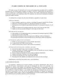 Cuadro Europeo de Indicadores de la Innovación - Encuentros ...