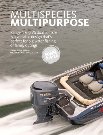 MULTISPECIES MULTIPURPOSE - Ranger Boats