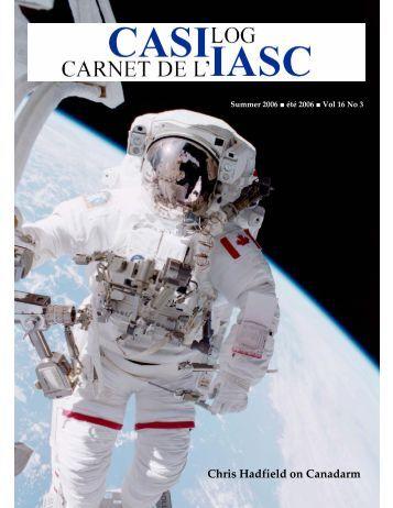 Casi Log Summer 06 - Canadian Aeronautics and Space Institute