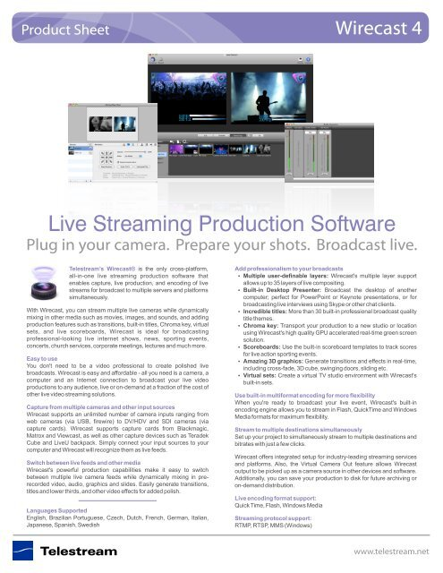 Live Streaming Production Software Que Video