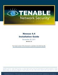 Download Nessus 4.4 Installation Guide - Tenable Network Security