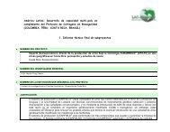 Impacto socioeconómico Costa Rica - LAC Biosafety