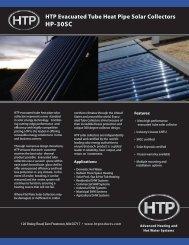 HTP Evacuated Tube Heat Pipe Solar Collectors HP-30SC
