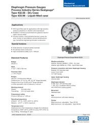 Diaphragm Pressure Gauges Type 432.56 Dry Case - WIKA