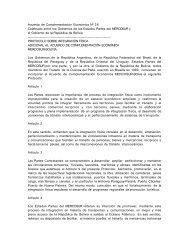 Acuerdo de Complementación Económica Nº 36 Celebrado ... - WITS