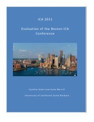 ICA 2011 Evaluation of the Boston ICA Conference - International ...