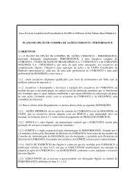 Anexo II à ata da Assembleia Geral Extraordinária de 24.4.2009, às ...
