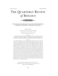 The Quarterly Review of Biology - Behavioural Ecology